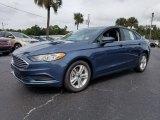 2018 Blue Metallic Ford Fusion SE #129818169