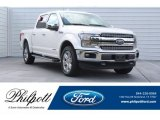 2018 White Platinum Ford F150 Lariat SuperCrew 4x4 #129818040