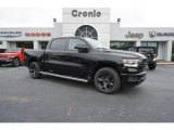 2019 Diamond Black Crystal Pearl Ram 1500 Big Horn Crew Cab #129818024