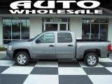 2008 Graystone Metallic Chevrolet Silverado 1500 LT Crew Cab #12962431