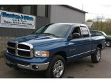 2005 Atlantic Blue Pearl Dodge Ram 1500 SLT Quad Cab 4x4 #12958158