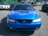 2000 Bright Atlantic Blue Metallic Ford Mustang V6 Coupe #12956480
