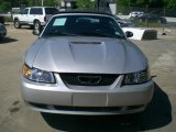 2000 Silver Metallic Ford Mustang V6 Convertible #12956447