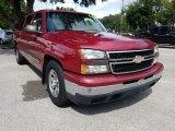 2006 Victory Red Chevrolet Silverado 1500 LS Crew Cab #129859376