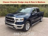 2019 Patriot Blue Pearl Ram 1500 Big Horn Crew Cab 4x4 #129876845