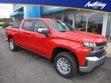 2019 Red Hot Chevrolet Silverado 1500 LT Crew Cab 4WD #129876925