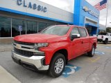 2019 Red Hot Chevrolet Silverado 1500 LT Crew Cab 4WD #129876875