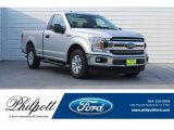 2018 Ingot Silver Ford F150 XLT Regular Cab #129925592
