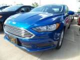 2018 Lightning Blue Ford Fusion SE #129946942
