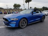 2018 Lightning Blue Ford Mustang EcoBoost Convertible #129995438