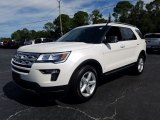 2019 Oxford White Ford Explorer XLT #130025816