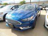 2018 Lightning Blue Ford Fusion SE #130048730