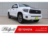 2019 Super White Toyota Tundra SR5 CrewMax 4x4 #130091846