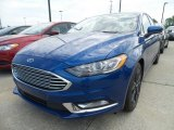 2018 Lightning Blue Ford Fusion SE #130154747