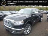 2019 Diamond Black Crystal Pearl Ram 1500 Long Horn Crew Cab 4x4 #130154568