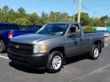 2013 Graystone Metallic Chevrolet Silverado 1500 Work Truck Regular Cab #130178898