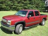 2005 Sport Red Metallic Chevrolet Silverado 1500 LT Crew Cab 4x4 #13012557