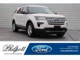 2019 White Platinum Ford Explorer XLT #130242295