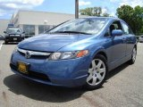 2007 Atomic Blue Metallic Honda Civic LX Sedan #12998273