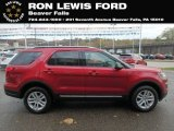 2019 Ruby Red Ford Explorer XLT 4WD #130302636