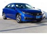 2019 Agean Blue Metallic Honda Civic LX Sedan #130341505