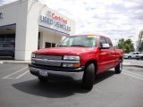 2002 Victory Red Chevrolet Silverado 1500 LS Extended Cab #13019179