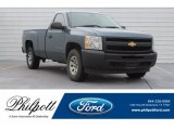 2012 Blue Granite Metallic Chevrolet Silverado 1500 Work Truck Regular Cab 4x4 #130390603