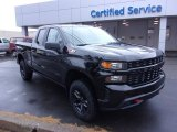 2019 Black Chevrolet Silverado 1500 Custom Z71 Trail Boss Double Cab 4WD #130416204