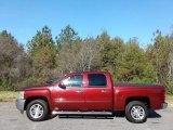 2013 Deep Ruby Metallic Chevrolet Silverado 1500 LT Crew Cab #130462250