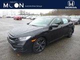 2019 Crystal Black Pearl Honda Civic Sport Sedan #130483344