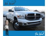 2007 Bright White Dodge Ram 3500 Big Horn Quad Cab 4x4 Dually #130483037