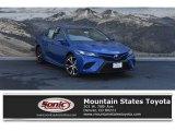 2019 Blue Streak Metallic Toyota Camry SE #130483073