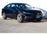2019 Crystal Black Pearl Honda Civic LX Sedan #130593772