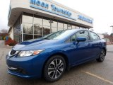 2015 Dyno Blue Pearl Honda Civic EX Sedan #130596663