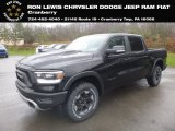 2019 Diamond Black Crystal Pearl Ram 1500 Rebel Crew Cab 4x4 #130596563