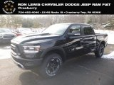 2019 Diamond Black Crystal Pearl Ram 1500 Rebel Crew Cab 4x4 #130656588