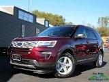 2019 Burgundy Velvet Ford Explorer XLT #130656469