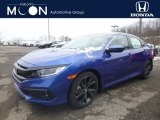 2019 Agean Blue Metallic Honda Civic Sport Sedan #130656713