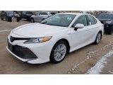 2019 Super White Toyota Camry Hybrid XLE #130683409