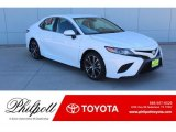 2019 Super White Toyota Camry SE #130744963