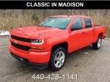 2018 Red Hot Chevrolet Silverado 1500 Custom Crew Cab 4x4 #130745063