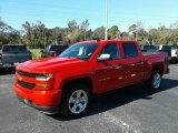 2018 Red Hot Chevrolet Silverado 1500 Custom Crew Cab 4x4 #130770920