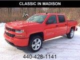2018 Red Hot Chevrolet Silverado 1500 Custom Crew Cab 4x4 #130814953