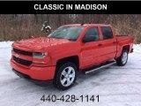 2018 Red Hot Chevrolet Silverado 1500 Custom Crew Cab 4x4 #130814949