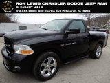 2012 Black Dodge Ram 1500 ST Regular Cab 4x4 #130841574