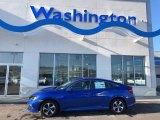 2019 Agean Blue Metallic Honda Civic LX Sedan #130865773