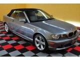 2004 Silver Grey Metallic BMW 3 Series 325i Convertible #13069278