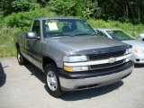 2002 Light Pewter Metallic Chevrolet Silverado 1500 LS Regular Cab 4x4 #13080658