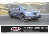 2013 Twilight Blue Metallic Honda CR-V EX-L AWD #131009624
