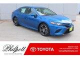 2019 Blue Streak Metallic Toyota Camry SE #131009701